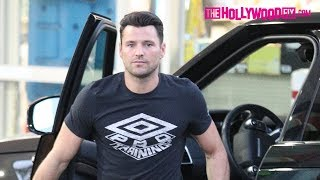 Mark Wright Makes A Coca-Cola Run While Michelle Keegan Hangs Out In The Car On The Sunset Strip