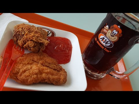 Chicken Tender Platter... Menu Ayam Tanpa Tulang Dengan Bumbu Khas A&W..😋