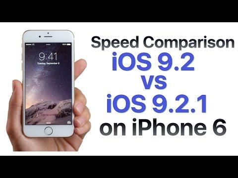 iPhone 6 iOS 9.2 vs iOS 9.2.1 Build 13D15 Speed Comparison