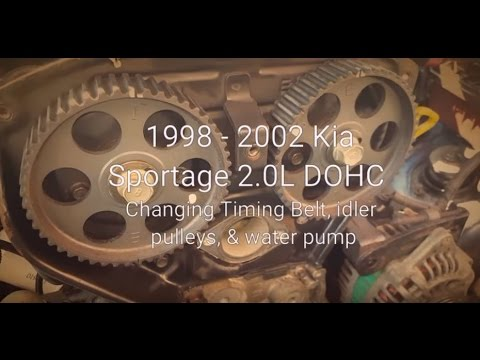 1998 - 2002 Kia Sportage Timing Belt  Water Pump Replacement - YouTube