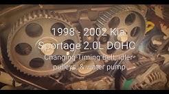 1998 - 2002 Kia Sportage Timing Belt & Water Pump Replacement