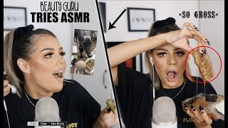 BEAUTY GURU (AND HER DOG) TRIES ASMR FOR THE FIRST TIME *I APOLOGISE IN ADVANCE*