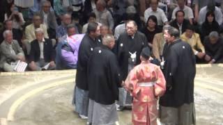 20160518 大相撲夏場所11日目 隠岐の海 vs 妙義龍 物言いの一番.