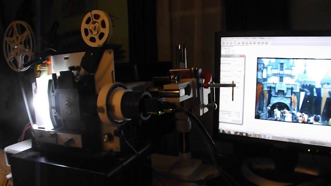DIY Avisynth 8mm 4k HDR frame by frame film scanner