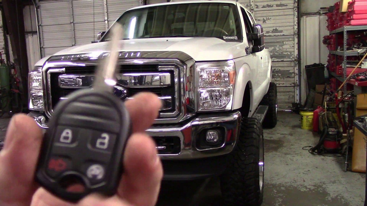 small resolution of 2015 ford super duty remote start install