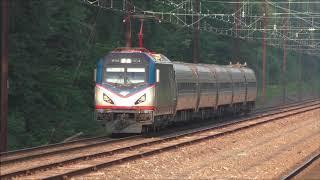 Amtrak & SEPTA HD 60fps: AM Rush Hour on The Keystone Corridor @ Exton (7/17/18)