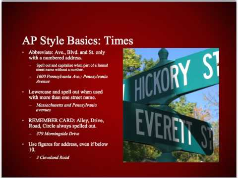 AP Style Overview