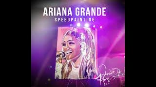 Ariana Grande Speedpainting Performance by Jessica K. Haas