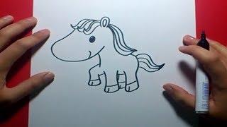 Como dibujar un caballo paso a paso 2   How to Draw a Horse 2