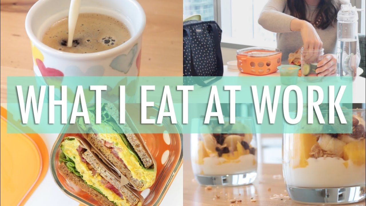 what i eat in a day at work easy healthy meals youtube