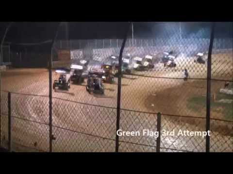 4/26/14 Jas Hehnly, Kyle Hehnly, 125cc Micro Sprint @ Clyde Martin Memorial Speedway