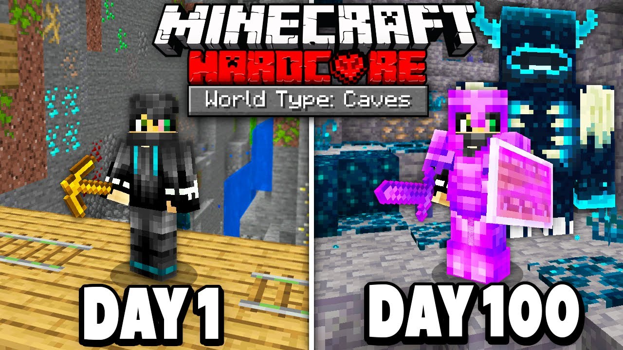 I Survived 100 Days in a Cave Only World on Minecraft.. Here's What Happened..
