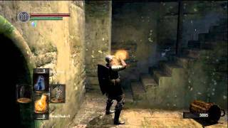 Dark Souls: Killing the Hellkite Dragon with melee.