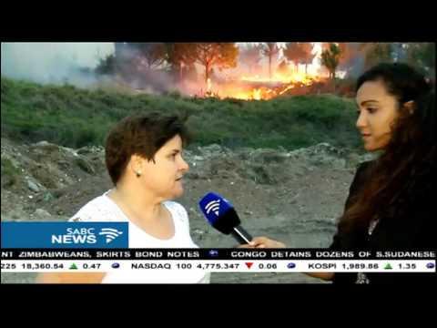 Heavy winds are fanning veld fires around Port Elizabeth
