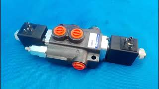 Directional control valve single spool hydraulic solenoid 50 l/min 13GPM 12VDC video