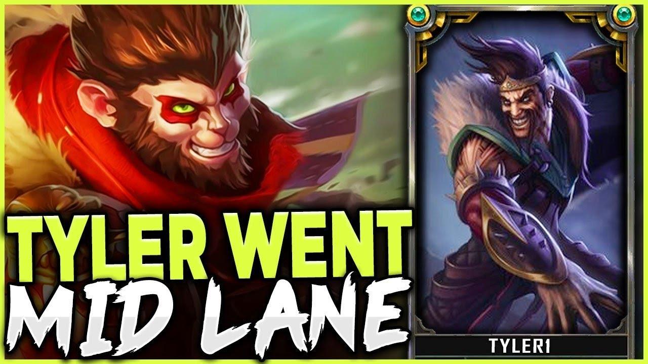 WHEN TYLER 1 PICKS DRAVEN MID LANE VS  THE RANK 1 WUKONG - League of Legends