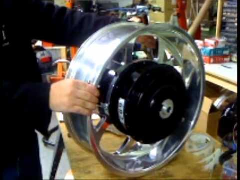 Motorcycle Hub Motor Double Wide Youtube
