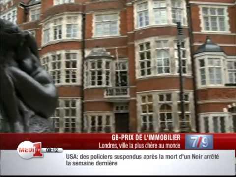 Immobilier: Londres est désormais ville la plus chère au monde