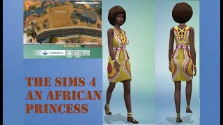 The Sims 4|New African Clothing update| Gameplay| An African Princess Story 1