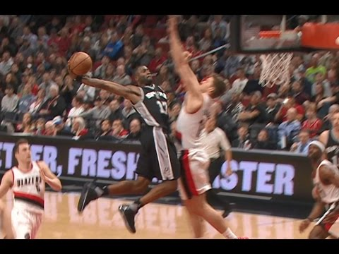 Jonathon Simmons MONSTER Slam Over the Blazers | April 10, 2017