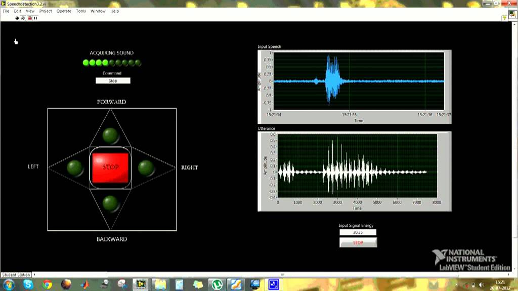 VOICE COMMAND RECOGNITION USING NI LabVIEW - YouTube