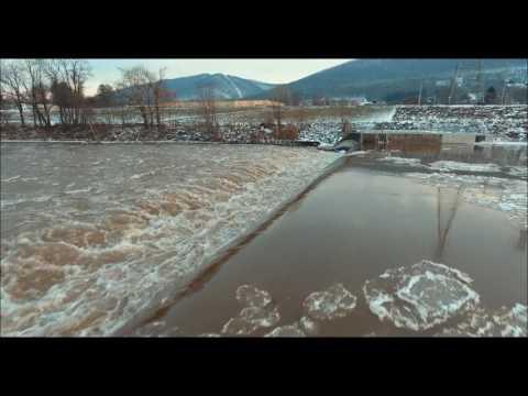 Drone Footage: Powerful Low Head Dam.