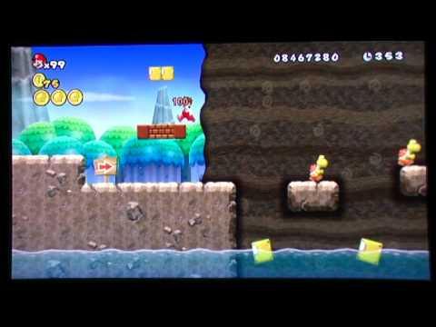 Super Mario Bros Wii World 6 5 Secret Exit 480p Youtube