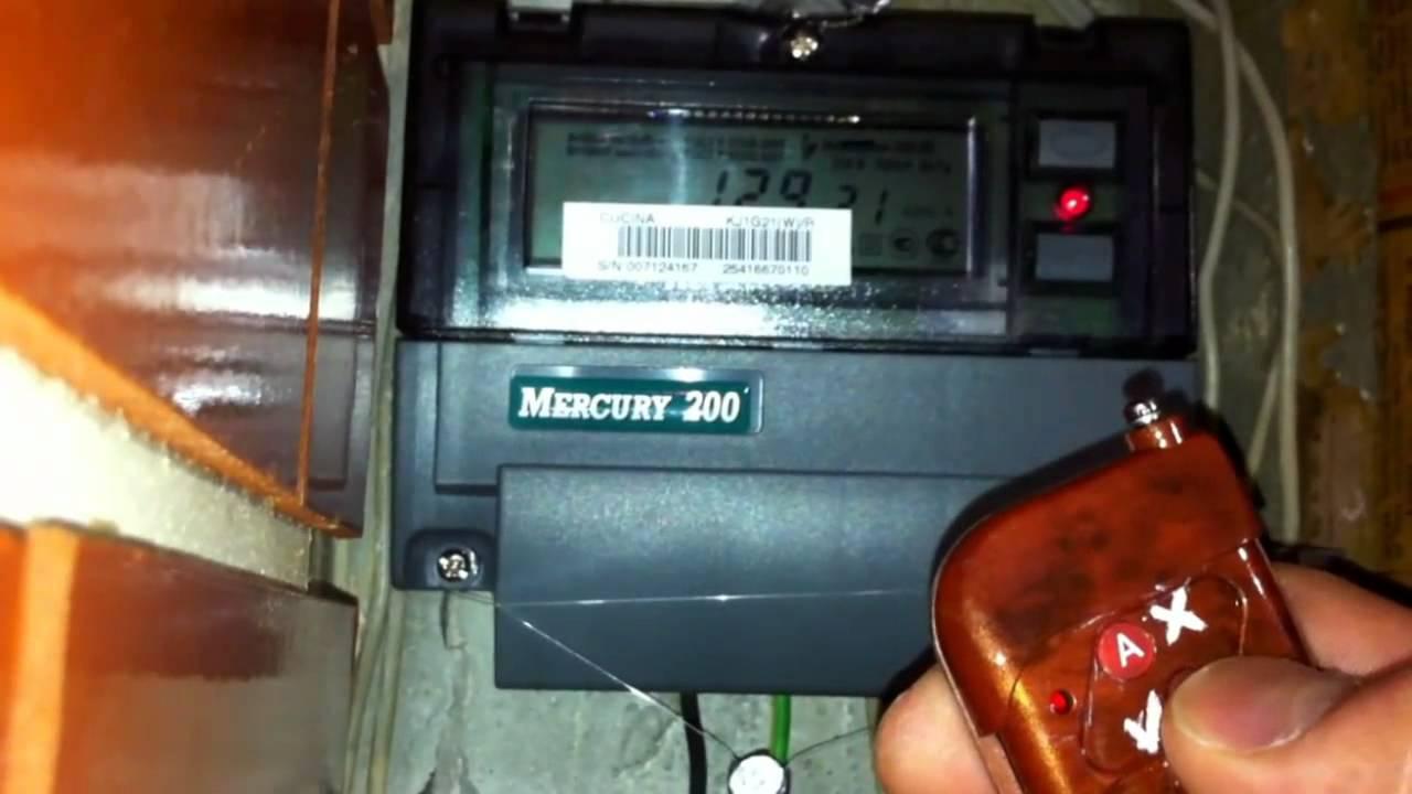 счетчик меркурий 200 инструкция