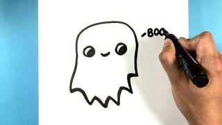 How to Draw a Ghost for Halloween - How to Draw Easy Things to Draw