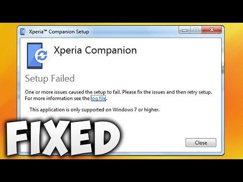 How To Fix Xperia Companion Setup Failed Error Windows 7 64