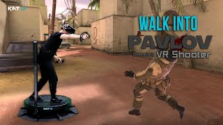 Walk Into PAVLOV on KAT Walk C - First Personal VR Treadmill!