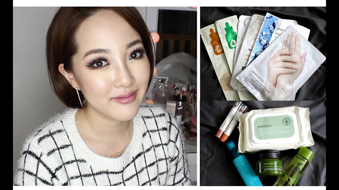 INNISFREE HAUL❤ - Best Korean Drugstore Makeup | 이니스프리 하울 - YouTube