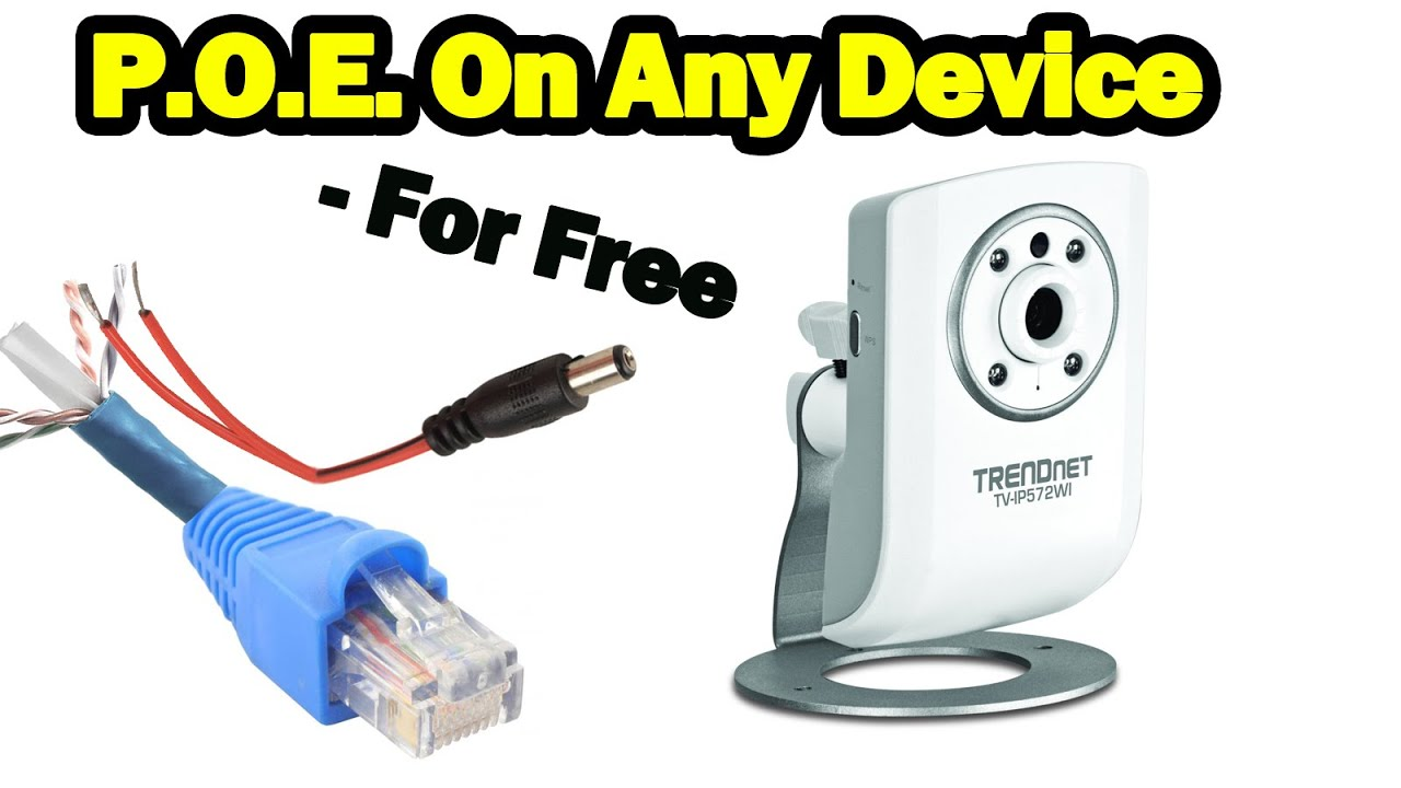 diy power over ethernet on non poe devices for free [ 1280 x 720 Pixel ]