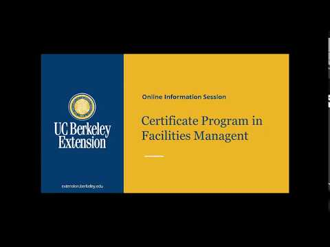 Certificate Program In Facilities Management