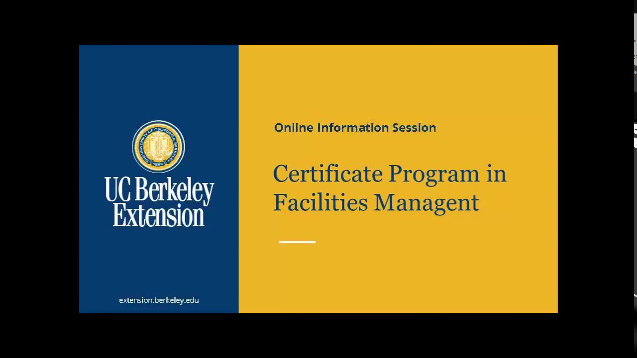Certificate Program In Facilities Management Youtube