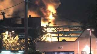 Video; Three alarm fire: Dow chemical plant
