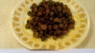 Okra Fry-bendakaya Vepudu-bhendi