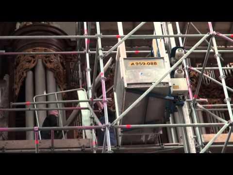 Restauratie orgel Oude Kerk Amsterdam: uitnemen front vlog #1