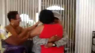 Airman, Home Early, Surprises His Mother