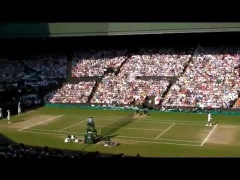 Wimbledon Mens final 2013 winning game and saying hello to Mum