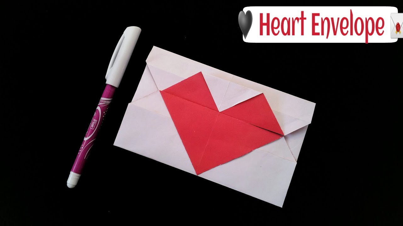 how to make a simple and easy paper heart envelope valentine 39 s day useful origami youtube. Black Bedroom Furniture Sets. Home Design Ideas