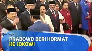VIDEO Prabowo Beri Hormat serta Anaknya Didit Hediprasetyo Cium Tangan ke Jokowi