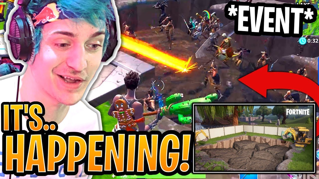 Download Ninja INVITES 99 Stream Snipers to *ACTIVATE* the New Dig Site Event! - Fortnite Moments