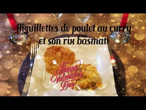 ♡recette-st-valentin♡---[part-3]---aiguillettes-de-poulet-au-curry-et-son-riz-basmati---cookeo