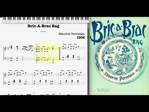 Bric-A-Brac Rag by Maurice Porcelain (1906, Ragtime piano)