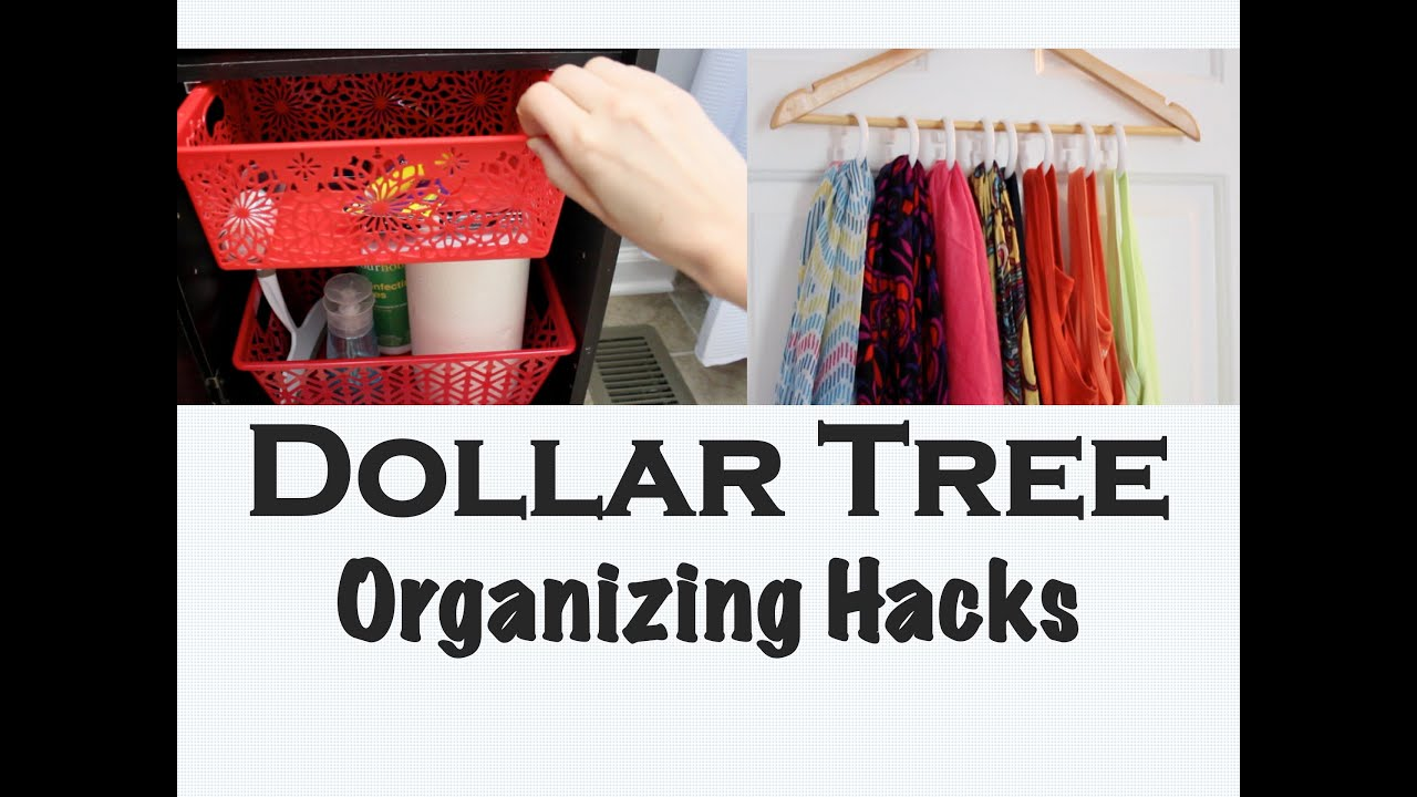 space-saving diys   dollar tree organizing - youtube
