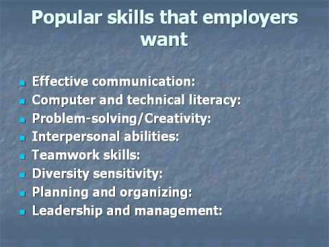 Skills and Personal Qualities that Employers Want - YouTube - what skills and qualities do employers look for