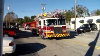 orange county fire rescue quint 41 and rescue 41 spare responding
