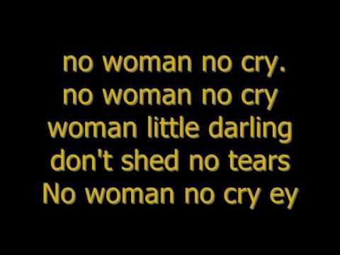 Bob Marley - no woman no cry (Lyrics)