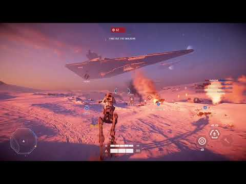 Star Wars Battlefront 2 - Galactic Assault AT-RT Gameplay - YouTube